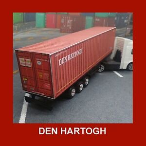 Den Hartogh Model Rail Freight Shipping Containers x 5 HO Gauge 1:87