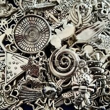 75+pcs mixed RANDOM Antique Silver small charms Surprise Free Post AU