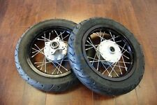 "12"" DRUM BRAKE FRONT&REAR WHEELS SET W/MOTARD TIRES FOR STOCK CRF50 12MM P WMS02"