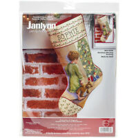 """Janlynn Stocking Counted Cross Stitch Kit 18"""" Long-Christmas Morning (14 Count)"""