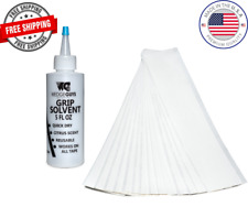 "Golf Club GRIP KIT 15 (2""x10"") Grip Tape Strips-5oz Solvent-Made in USA"