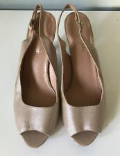 """New Naturalizer Leather Ankle Strap 2.5"""" Heel Sandals Size 9M"""