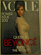 """COLLECTIBLE QUEEN B BEYONCE RULES THE WORLD VOGUE POWER ISSUE MAR 2013 8x11x1"""""""