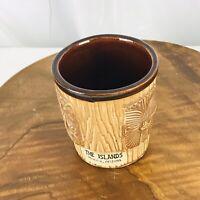 Vintage The Islands Phoenix Arizona 3 face Brown Tiki Mug
