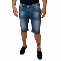 Bermuda Uomo Jeans  Pantaloni Corti Shorts Denim Pantalone Cargo Strappato