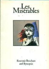 1990 Les Miserables Souvenir Brochure & Synopsis - Shubert Theatre Boston Cast