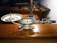 Antique Victorian Gas Fired Curling Iron Heater Figural Turtle Steampunk Vanity