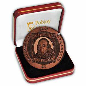British Virgin Islands 2007 First American Stamps Titanium Coin