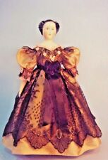 "13-16""ANTIQUE CHINA HEAD/PARIAN LADY DOLL CLOTH BODY-DRESS UNDERWEAR PATTERN"