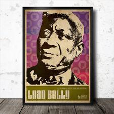 Lead Belly Blues Art Poster Muddy Waters  B.B. King Howlin' Wolf John Lee Hooker