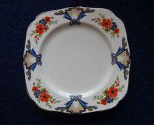 c1930s H & K Tunstal China Plates: Deco Style Decoration: Dia Approx 19.7cm