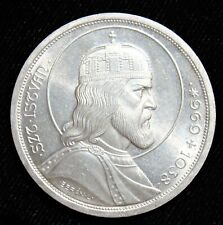 Hungary: 5 Pengo 1938 UNC Silver 900 Years Death of St. Stephan. UNC, BU.
