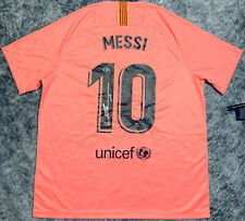 Barcelona Leo Lionel Messi Signed Soccer Jersey Third Kit  - Beckett BAS COA
