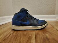 Nike Air Jordan 1 Mid BG 🔥OBSIDIAN ROYAL🔥 #554725-412  (Youth Size 5.5Y) BOYS