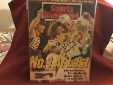 BOBBY BOWDEN SIGNED 1994 SPORTS ILLUSTRATED/ FLORIDA STATE/ 377 CAREER VICTORIES
