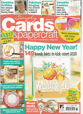 SIMPLY CARDS & PAPERCRAFT #172 NO.1 CARDMAKING MAGAZINE 2018, W/ TEMPLATES.