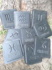 horoscope Plaster Concrete  plaque molds set of all 12 months
