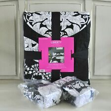 Liberty of London for Target Dunclare Circle Quilt & Shams Black White Patchwork