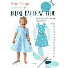 Schnittmuster AnniNanni Kleine Ballerina Kleid Mädchenkleid Kleid  86 bis 152