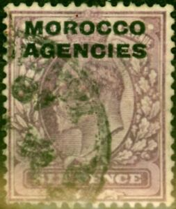 Morocco Agencies 1907 6d Dull Purple SG36a Good Used