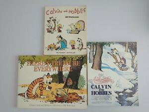 X 3 Calvin And Hobbes Books by Bill Watterson Paperback