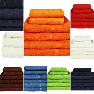 Luxury Bath Face Hand Towels Sheets 500 GSM 100% Egyptian Cotton 1 3 6 Bales Set