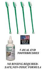 Pet Oral Care Dental GEL TOOTHPASTE & 4-TOOTHBRUSH Reduce Plaque/Tartar,Odor Dog