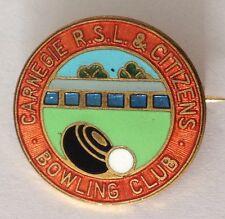 Carnegie RSL & Citizens Bowling Club Badge Pin Vintage Lawn Bowls (L19)