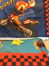 Mario Brothers Kart WII Full Size Flat & Fitted Sheets & 2 Pillowcases 4 Pc. Set