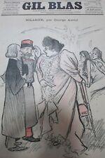 JOURNAL GIL BLAS N° 15 de 1895  DESSINS de STEINLEN POÉSIE de VERLAINE PARTITION