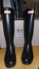NEW Hunter Womens BLACK MATTE Rubber Rain Boots Original Tall  Size 9 1000RMA!!