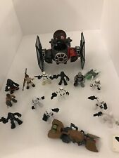 Playskool Star Wars Tie Fighter And Figure Lot Stormtrooper Snowtrooper Scout