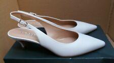 Hobbs 'Annie' Slingback Kitten Heel Shoes - Ice White - UK 6/EU 39 - RRP £129