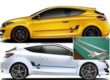RENAULT MEGANE RS RS257R 275 Trophy Sport Side Stripes Stickers Autocollants MK3 MK4