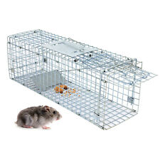 Humane Animal Trap 24'' Steel Cage for Small Live Rodent Control Rat Squirrel