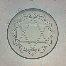 Flexible Resin Or Chocolate Mold Heart Anahata 4th Fourth Chakra