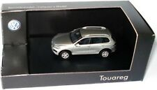 VW TOUAREG 7P 3.0 V6 TDI 2010 FACELIFT TUNGSTEN SILVER 1:87 WIKING DEALER MODEL