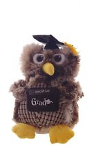 "12"" Graduation Owl Stuffed Animal Card Money Holder Party Favor Decoration NEW"