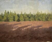 Paolo Westerfrölke 1886-1975 Dipinto a Olio Paesaggio Sul Bordo Tannen