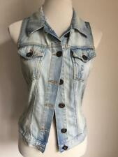 Miss Selfridge Womens Waistcoat denim blue jacket size UK10 EU38 US6 (51)