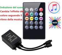 Telecomando per 3528 5050 striscia LED RGB Light VR IR Suono Sensore Musica MIC