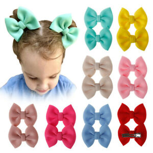 Fashion Kids Bow Barrettes 2Pcs/Set Kids Hair Clip Baby Girls Hairpins Accessory