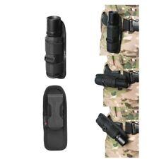 UltraFire 360 Degrees Rotatable Flashlight Pouch Holster Belt Carry Case Black