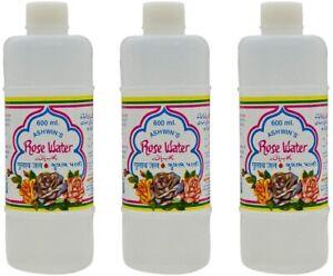 Ashwins Pure Rose Water Spray Toner Cleanser Moisturizer For Fresh Face 600ML