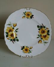 "Adderley Floral ""Yellow Rose"" Cake Plate"