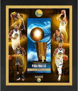 Golden State Warriors 2018 NBA Finals Champs Framed 23x27 Floated Trophy Collage