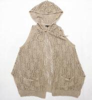River Island Womens Size 12 Textured Brown Cardigan (Regular)