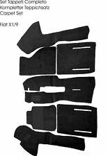 Black Velours Carpet Set for Fiat X1/9 1972-1989 Carpet Kit