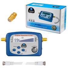 Digital HD Sat Finder Satfinder Gold LCD Display Kabel & Kompass FULL HDTV 4K 3D
