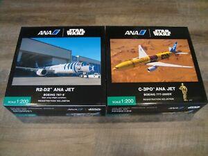 1/200 Hogan ANA x STAR WARS Official B787-9 R2D2 + B777-200ER C3PO Combo Set